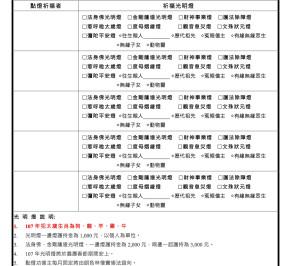 107年光明燈報名表